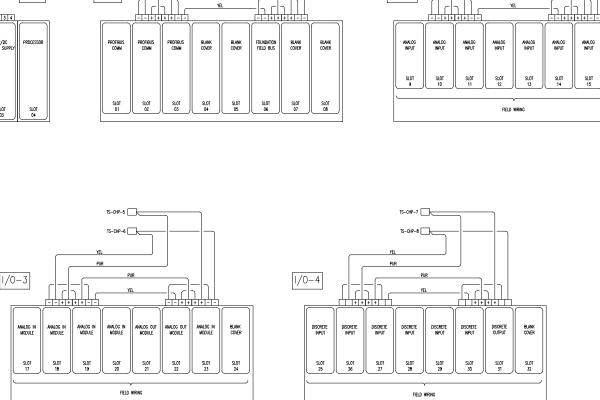 Automation Control Panel PLC Slots