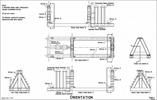 Mooring Spooler Orientation Drawing