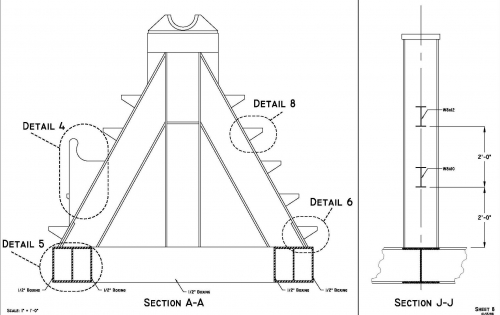 Mooring Spooler Drawings Section A-A