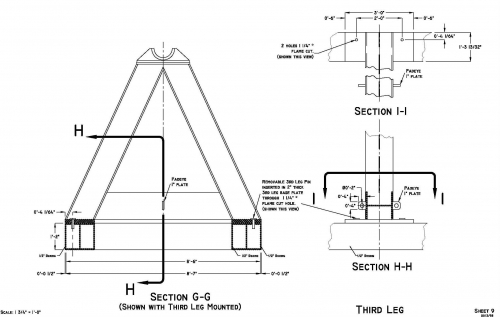 Mooring Spooler Section G-G Drawings
